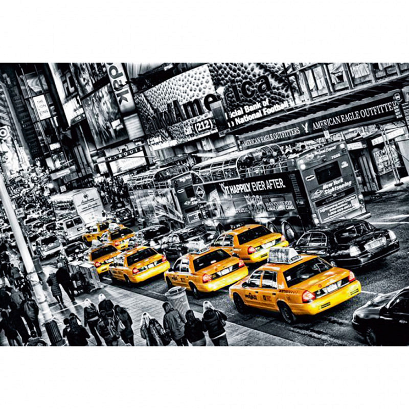 Fototapete Wandbild Taxi Cabs in New York