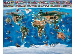 Fototapete Kinderzimmer Wandbild Weltkarte
