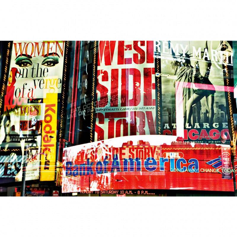 Wandbild Poster Times Square Neon Stories