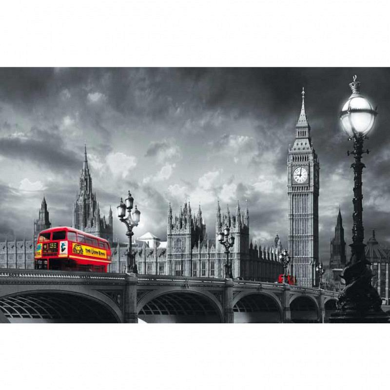 Wandbild Poster Bus Westminster Bridge