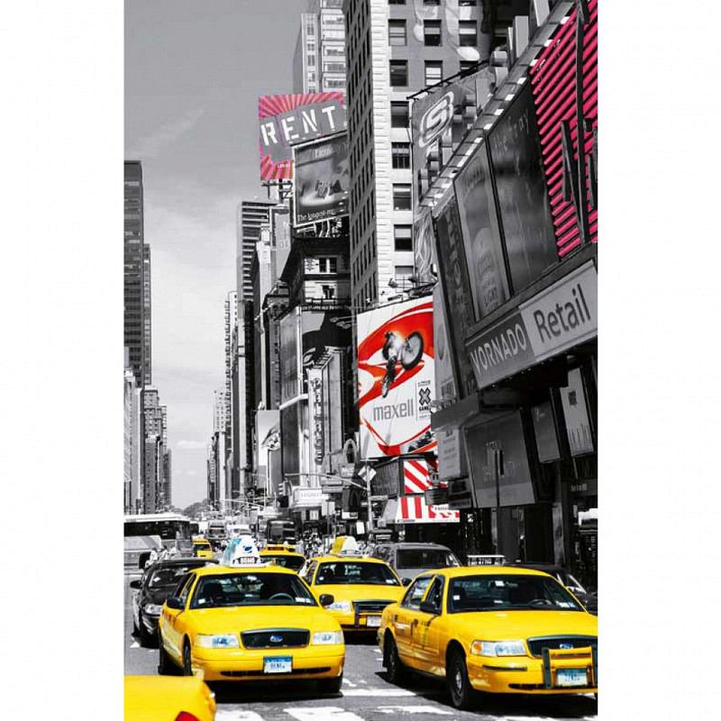 Wandbild Poster Taxi am Times Square