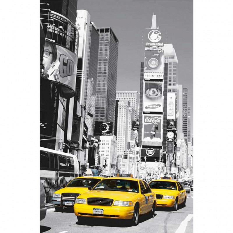 Wandbild Poster Taxi Cabs Times Square