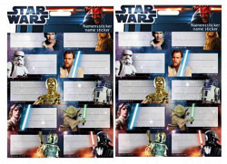 Star Wars Clone Wars Heftaufkleber Namensticker