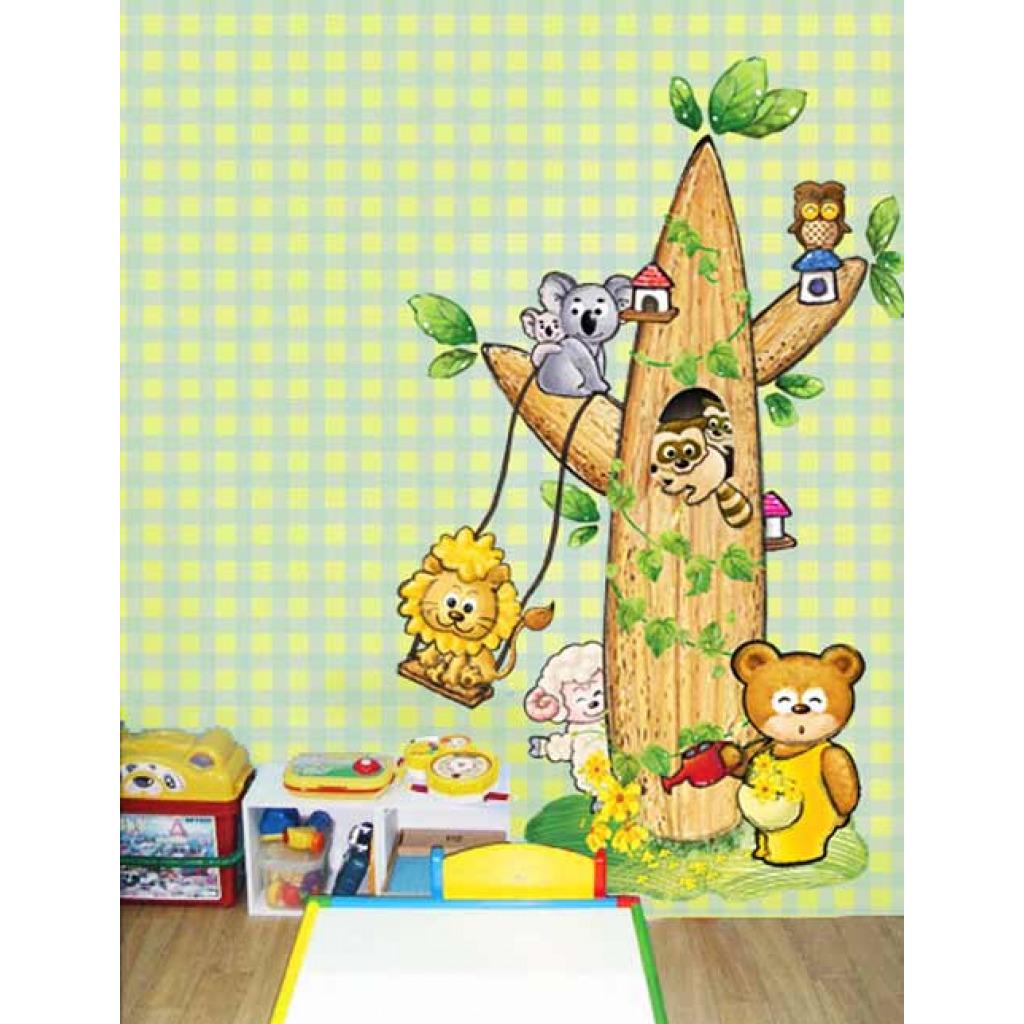 Wandsticker wandtattoo kinderzimmer tierbaum www 4 for Wandsticker kinderzimmer jungen