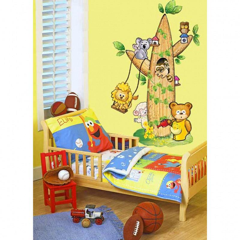 Wandsticker Babyzimmer Tierbaum