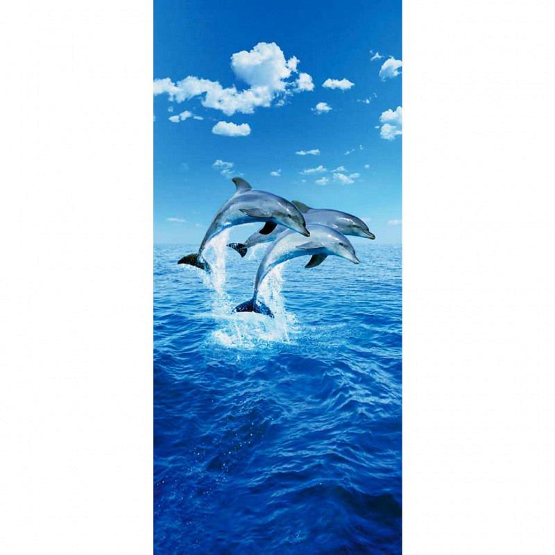 Türtapete Türposter Fototapete Drei Delfine