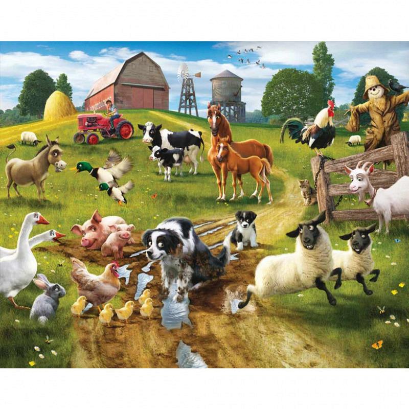 Fototapete Kinderzimmer Tiere Bauernhof Farm