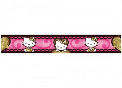 Kinderzimmer Bord�re Hello Kitty gold