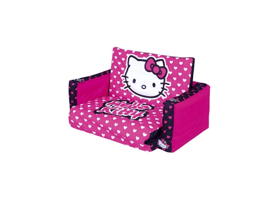 hello kitty flip out sofa fertig sofa bett kinderzimmer ca. Black Bedroom Furniture Sets. Home Design Ideas