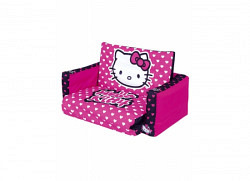 Hello Kitty Polka Dot Sofa Flip Out Fertigbett
