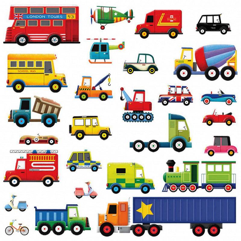 Wandsticker Lastkraftwagen Transporter Autos