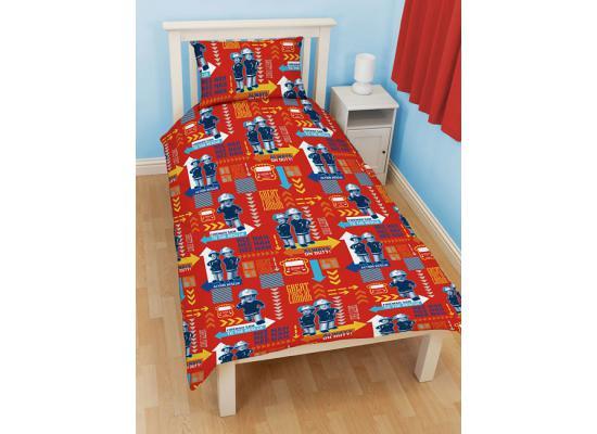 feuerwehrmann sam bettw sche feueralarm feuerwehrmann sam. Black Bedroom Furniture Sets. Home Design Ideas