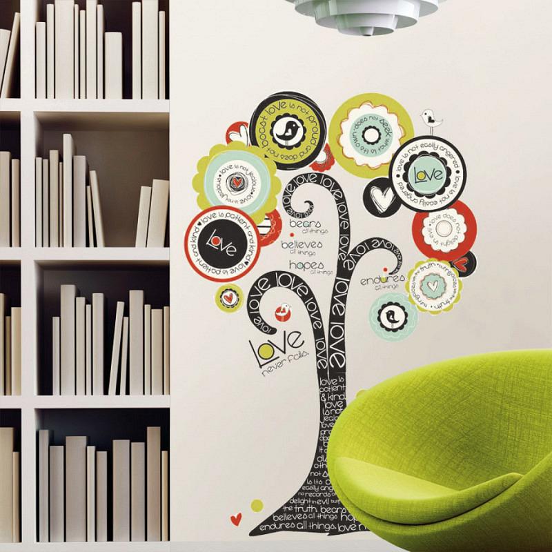 RoomMates Wandtattoo Wandbild Baum der Hoffnung