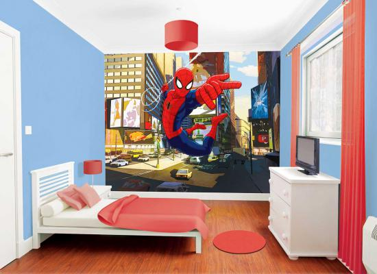 fototapete kinderzimmer wandbild marvel spiderman inkl. Black Bedroom Furniture Sets. Home Design Ideas