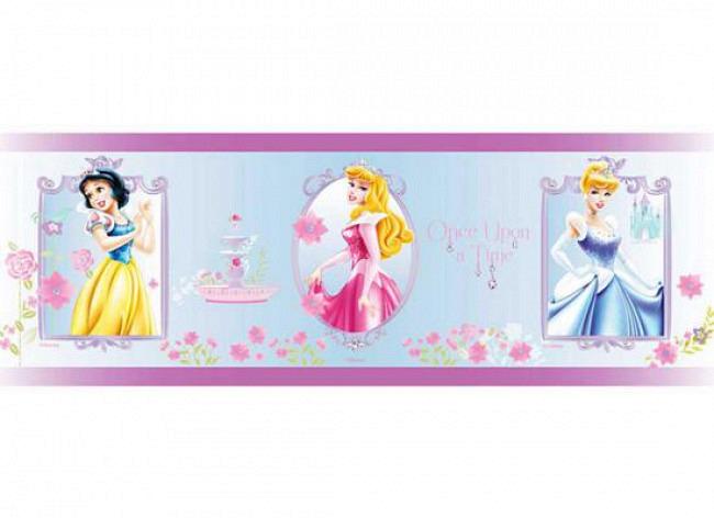 Kinderzimmer Bordüre Disney Princess Rose