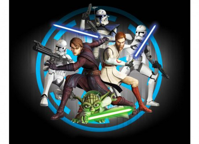 Fototapete Kinderzimmer Star Wars Clone Wars