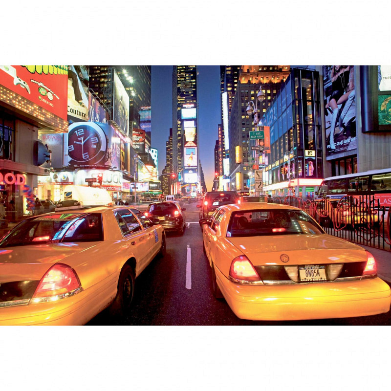 Wandbild New York Taxi am Times Square