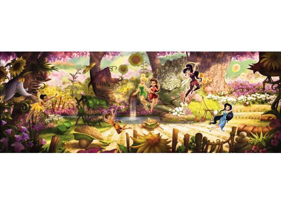 fototapete panorama disney fairies tinkerbell feengarten. Black Bedroom Furniture Sets. Home Design Ideas