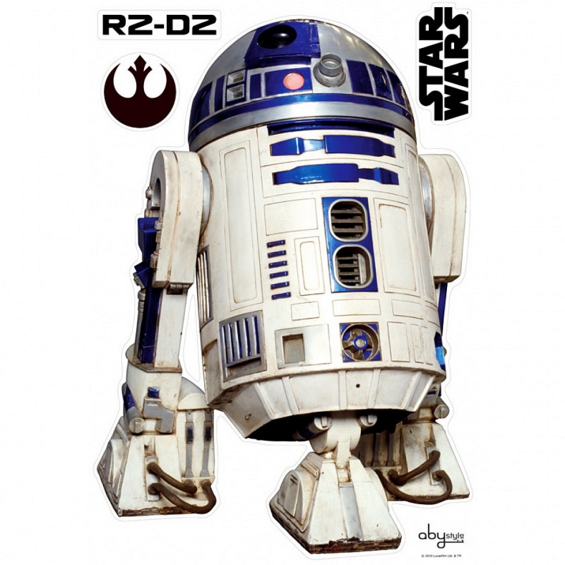 Riesiger Wandsticker Wandtattoo Star Wars R2D2