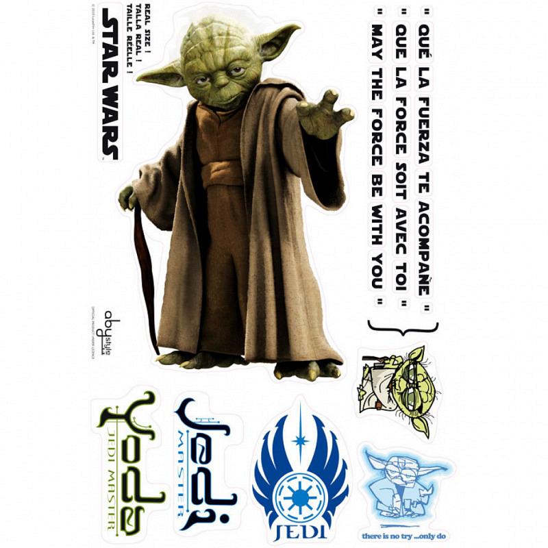 Wandsticker Wandtattoo Star Wars Jedi-Meister Yoda