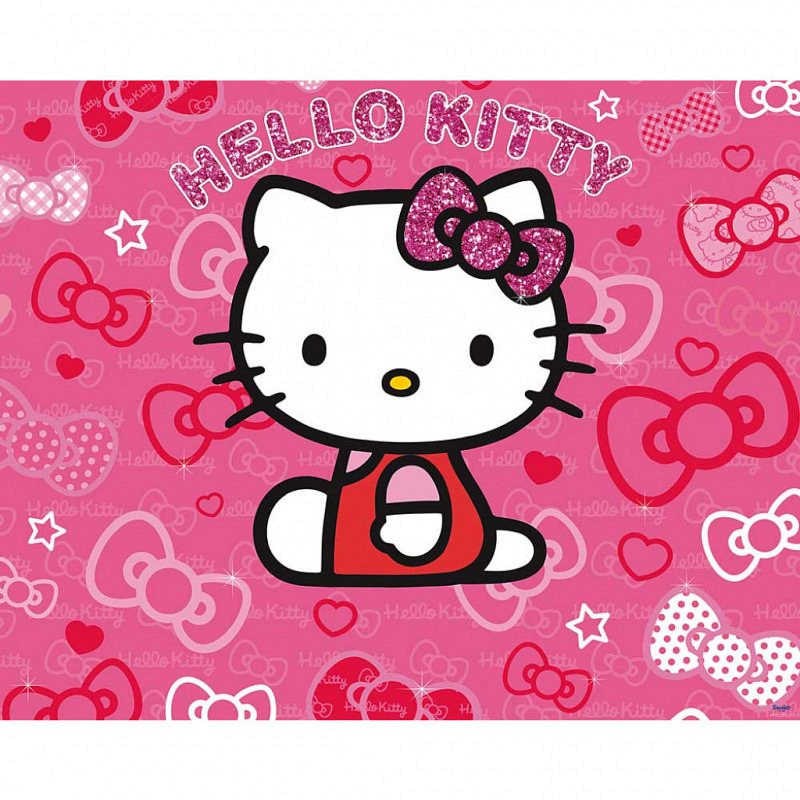 Fototapete Kinderzimmer Mädchen Hello Kitty