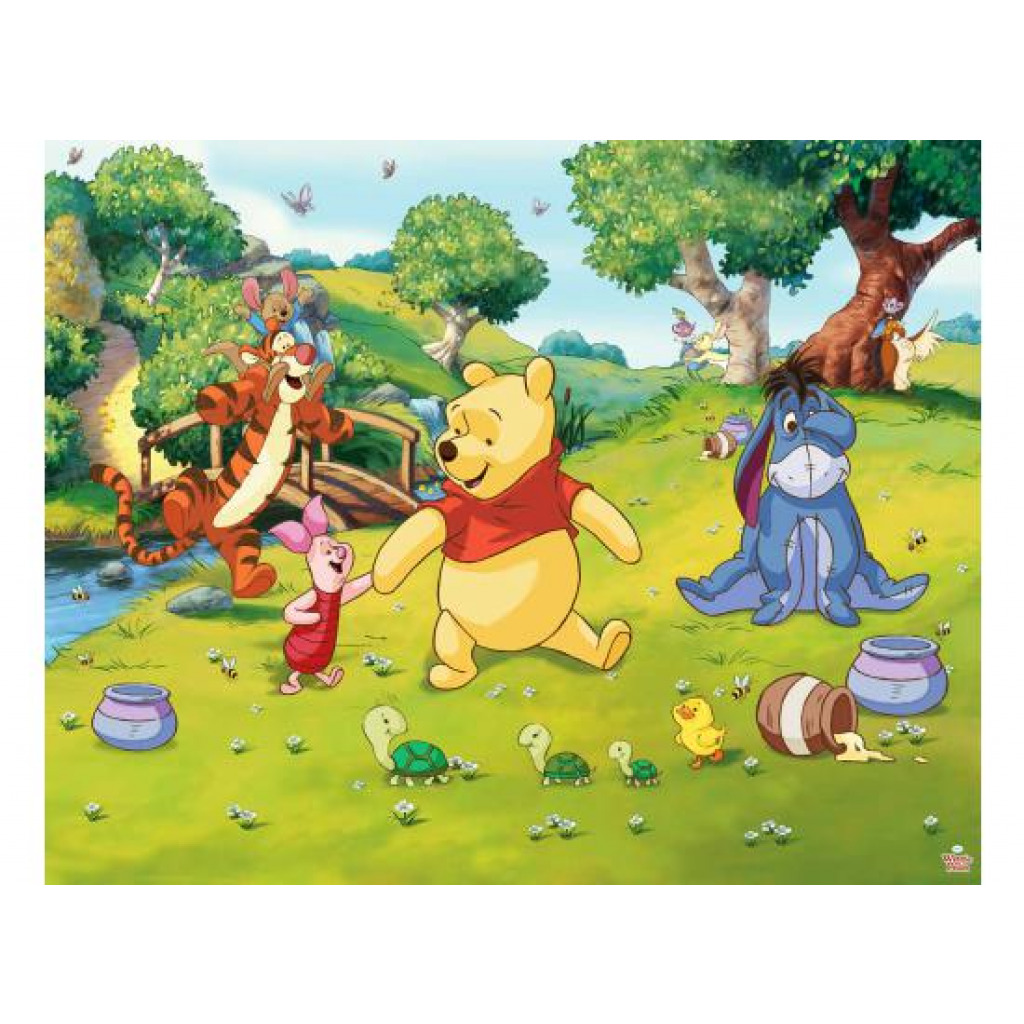 walltastic fototapete kinderzimmer winnie the pooh wandbild www 4. Black Bedroom Furniture Sets. Home Design Ideas