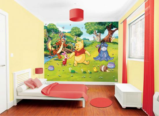 fototapete kinderzimmer disney winnie the pooh wandbild. Black Bedroom Furniture Sets. Home Design Ideas