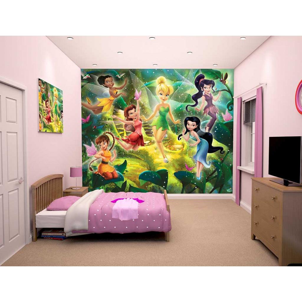 fototapete kinderzimmer disney fairies tinkerbell wandbild. Black Bedroom Furniture Sets. Home Design Ideas
