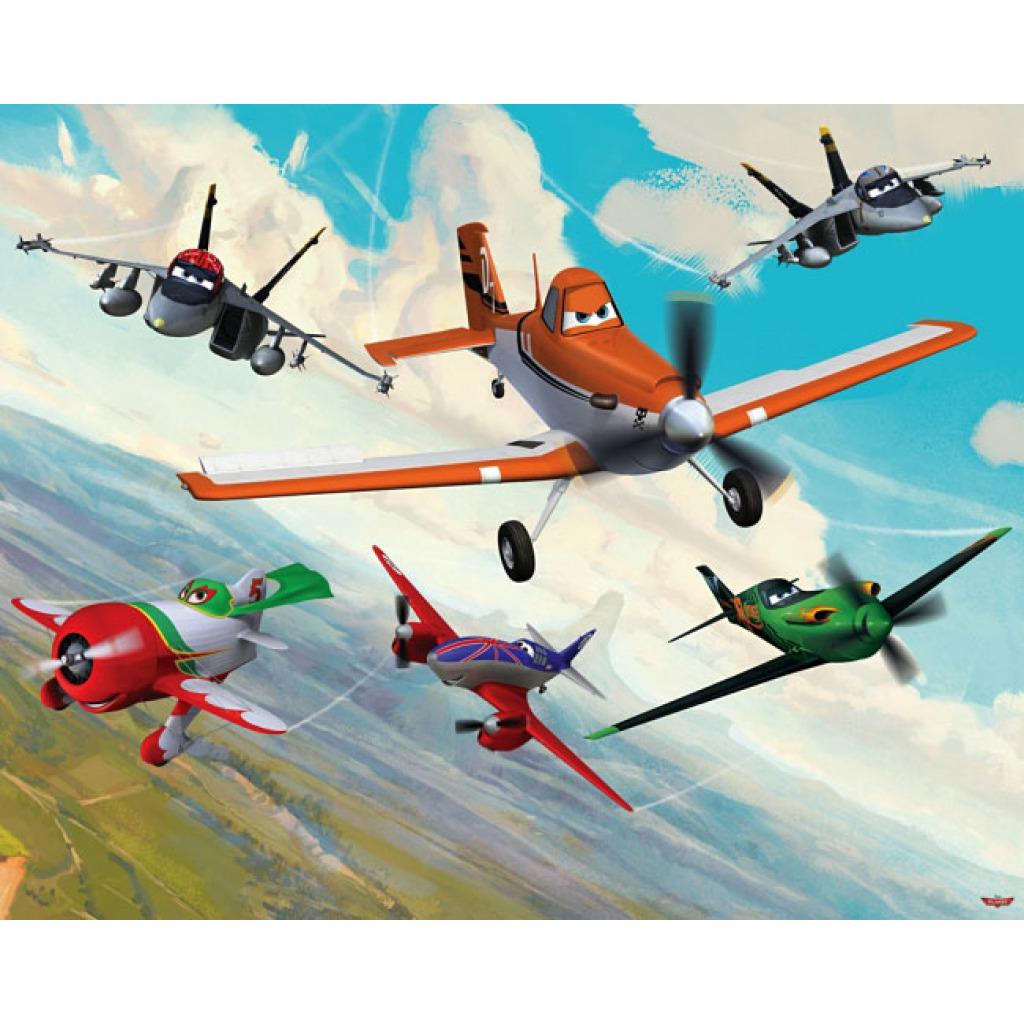 Fototapete Kinderzimmer Wandbild Walltastic Disney Planes Flugzeuge