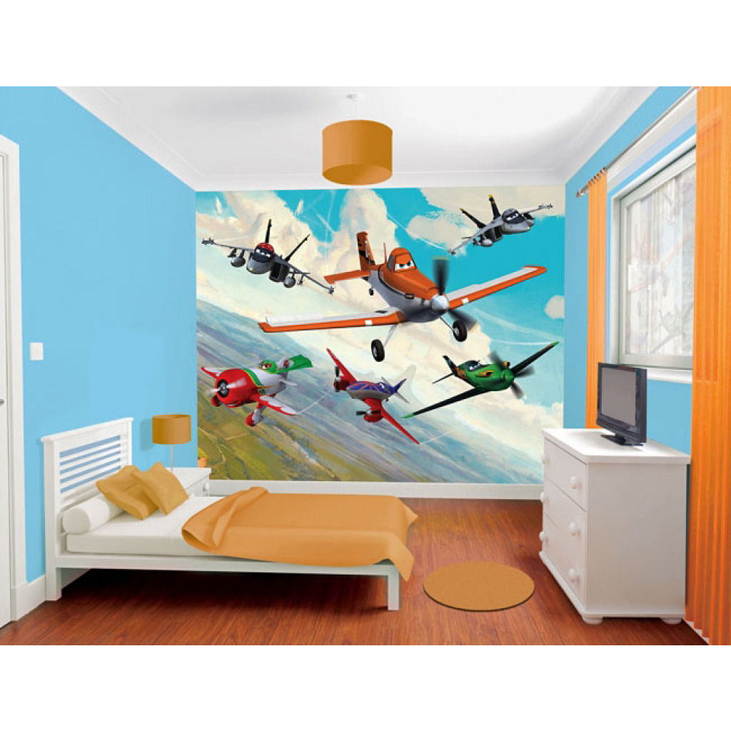 Fototapete Kinderzimmer Wandbild Disney Planes Flugzeuge Inkl