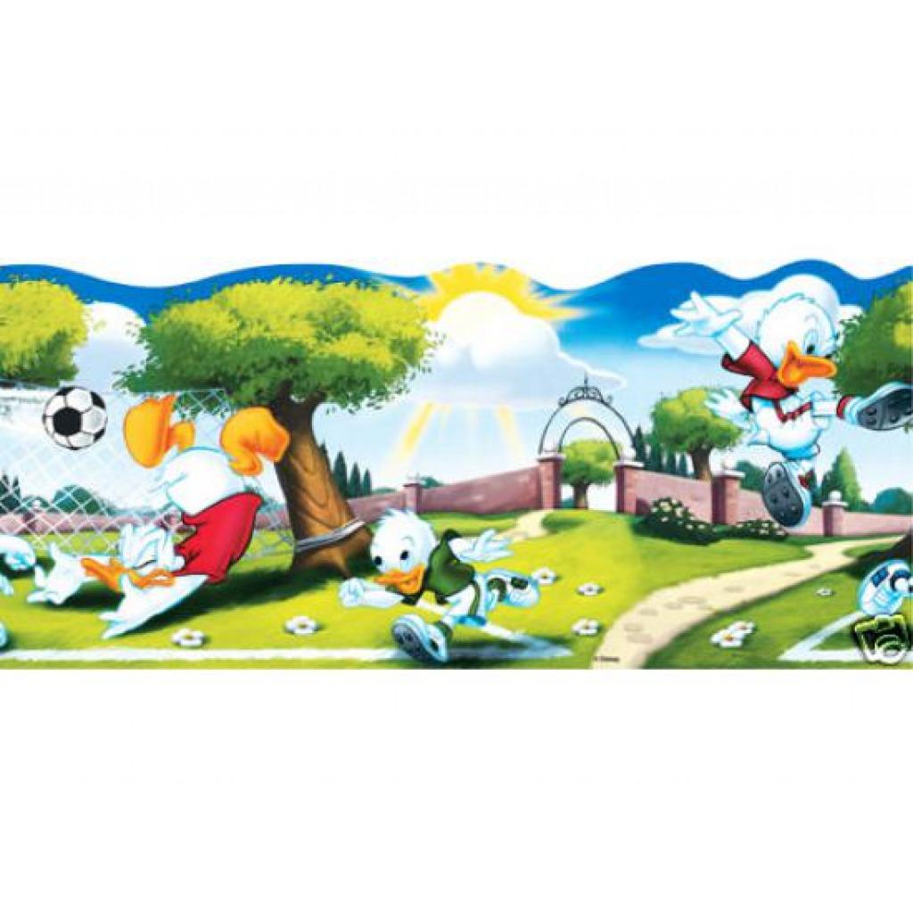 Kinderzimmer Bordüre Disney Donald Duck Fußballspiel