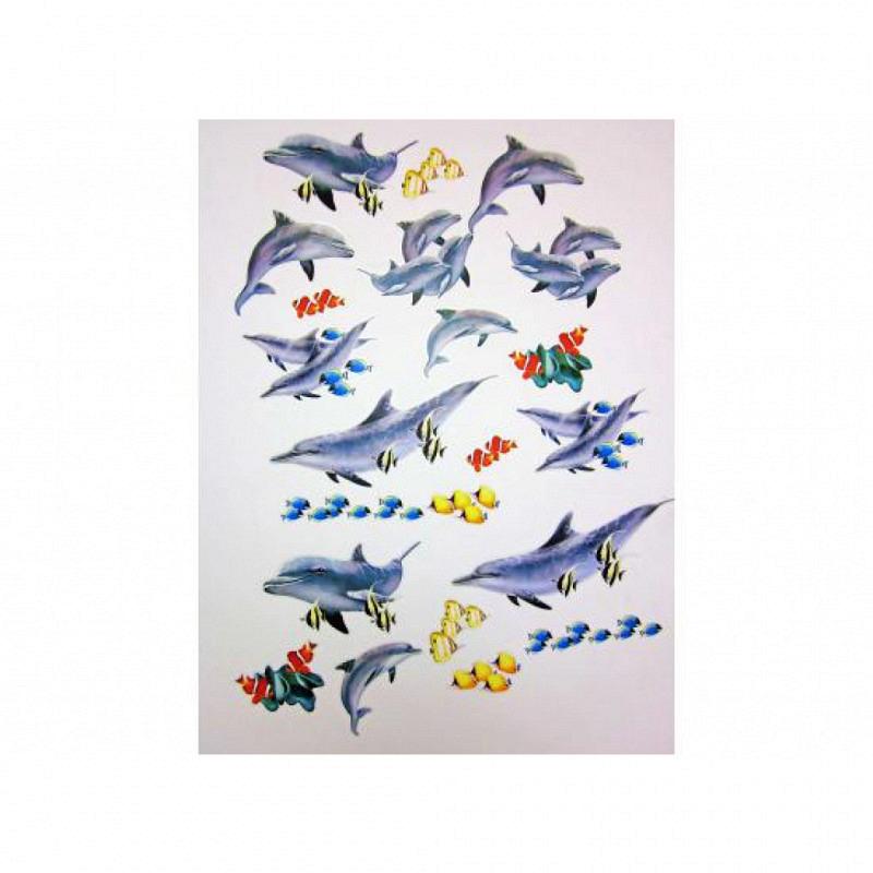 Wandsticker Wandtattoo Delfin Meeresfische Deko