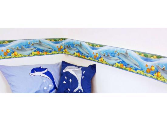 bord re delfin delfine meeresfische selbstklebend tapeten borte bad fliesen deko ebay. Black Bedroom Furniture Sets. Home Design Ideas