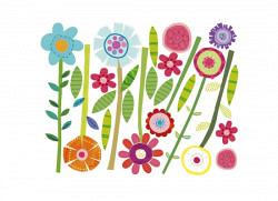 Wandsticker Grüner Garten Blumen