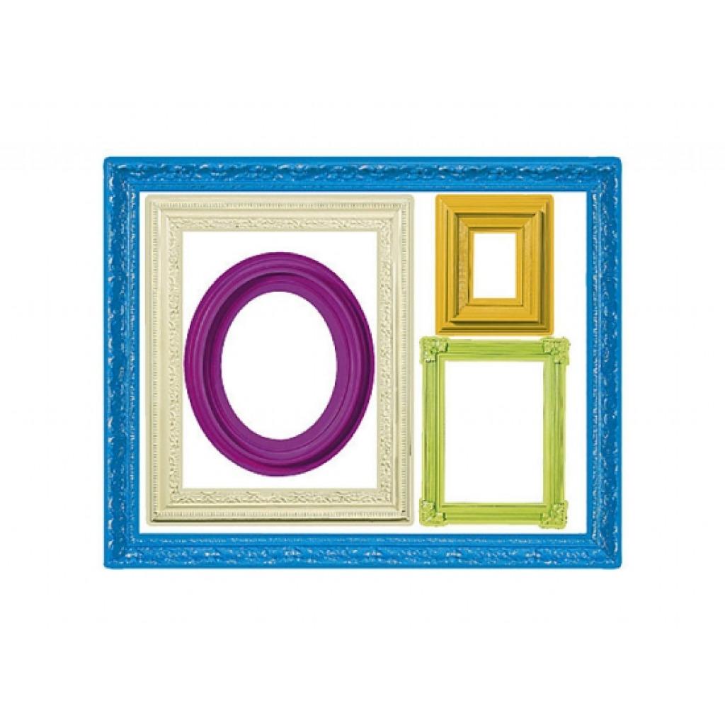 wandsticker farbenfrohe bilderrahmen wohnzimmer. Black Bedroom Furniture Sets. Home Design Ideas