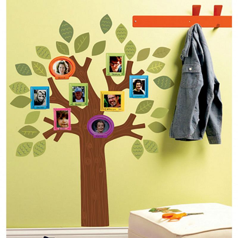 Wandsticker Fotorahmen Familienstammbaum