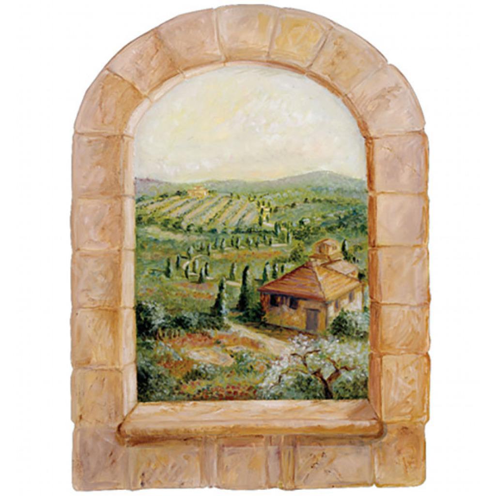 Wallies Wandsticker Wandbild mediterranes Toskana Fenster Detail