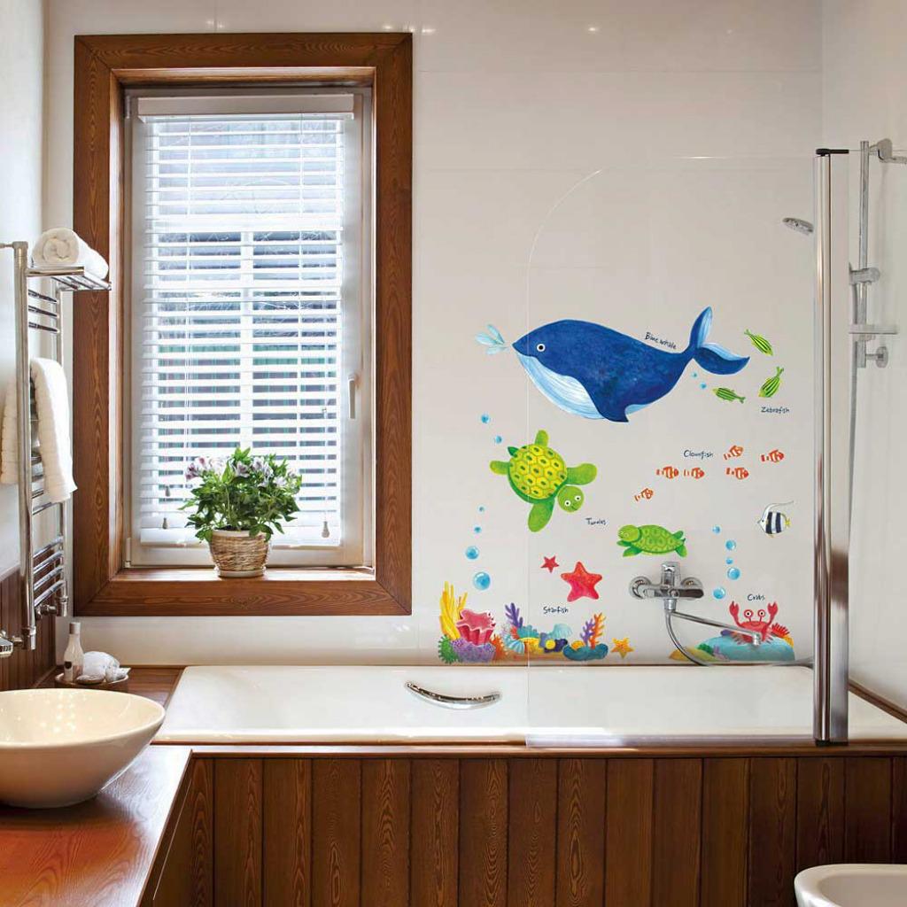 wandsticker wandtattoo meerestiere unterwasserwelt fische kinderzimmer wal. Black Bedroom Furniture Sets. Home Design Ideas