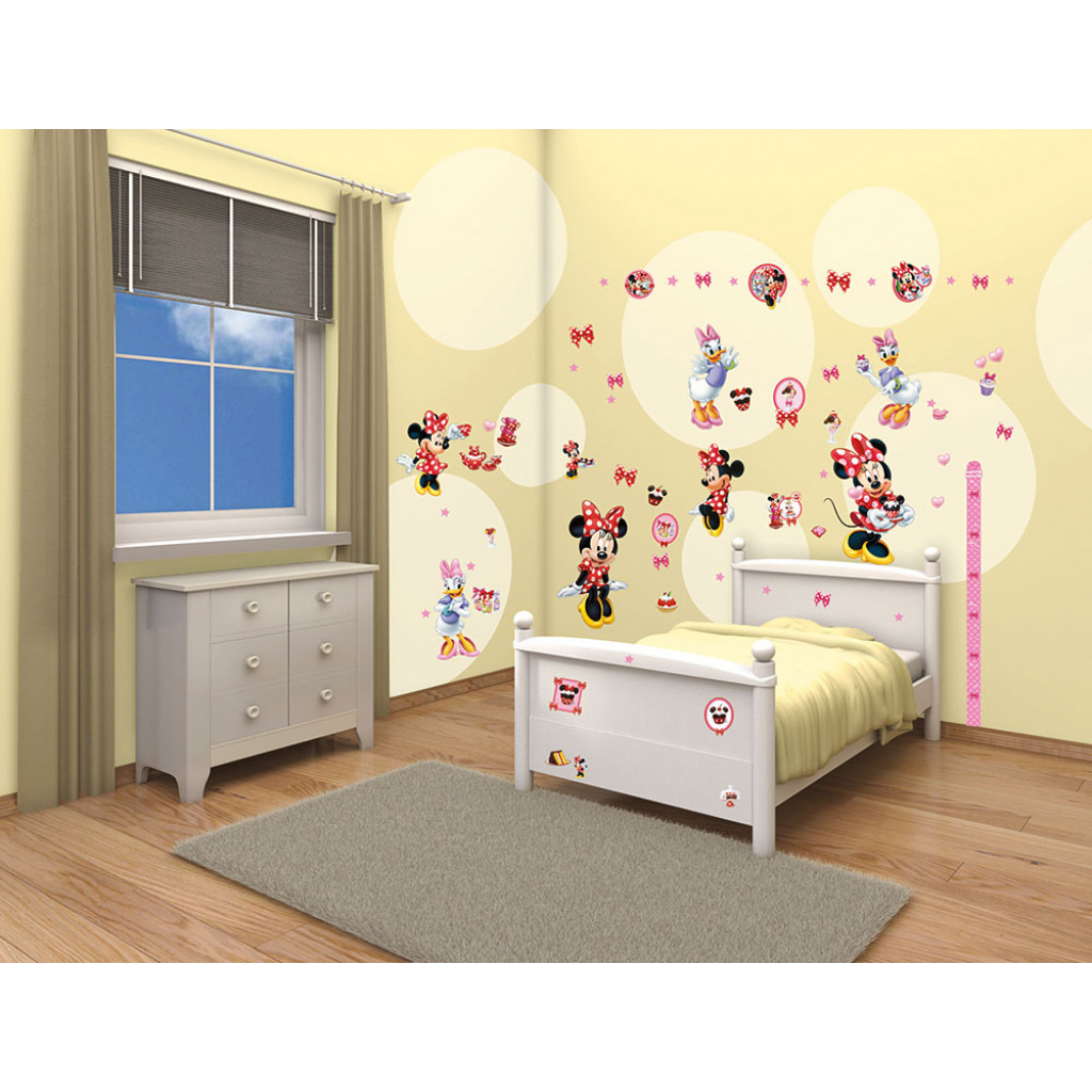 riesiges wandsticker set disney minnie mouse daisy duck kinderzimmer m dchen ebay. Black Bedroom Furniture Sets. Home Design Ideas