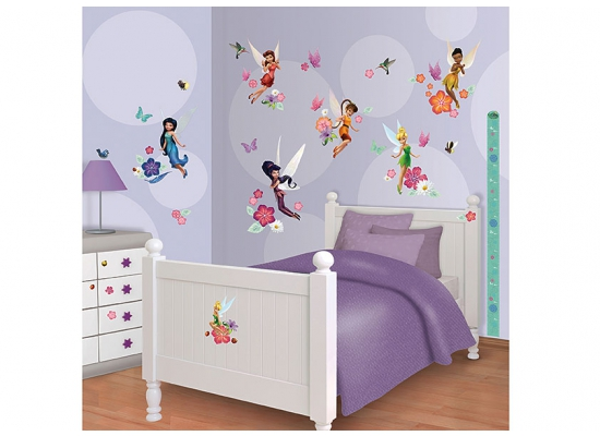 wandtattoo disney fairies tinkerbell walltastic wandsticker. Black Bedroom Furniture Sets. Home Design Ideas