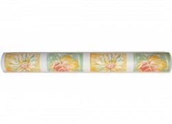 Küchentapete Ölmalerei Blätter Blüten Quadrate