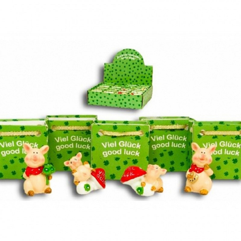 Glücksschweinchen Mini-Präsenttüte Set
