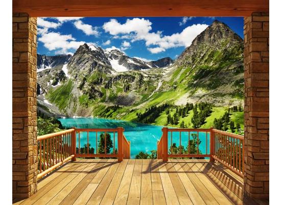 Fototapete Berge Alpen Panorama Wandtapete