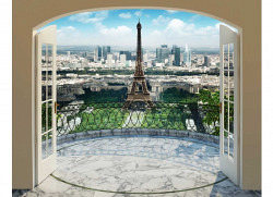 Fototapete Paris Eiffelturm Panorama