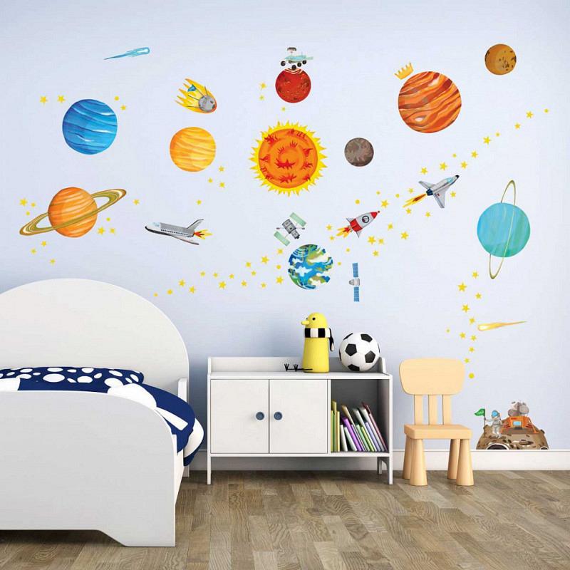 Wandsticker Planeten Sonnensystem Weltraum
