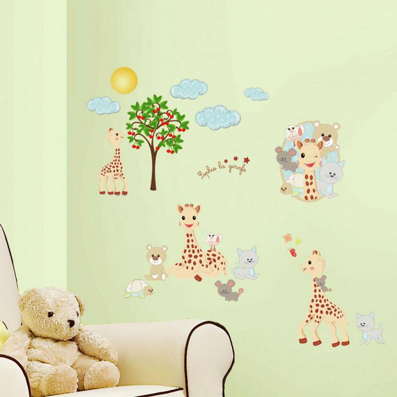 Wandsticker kleine Giraffe Sophie RoomMates