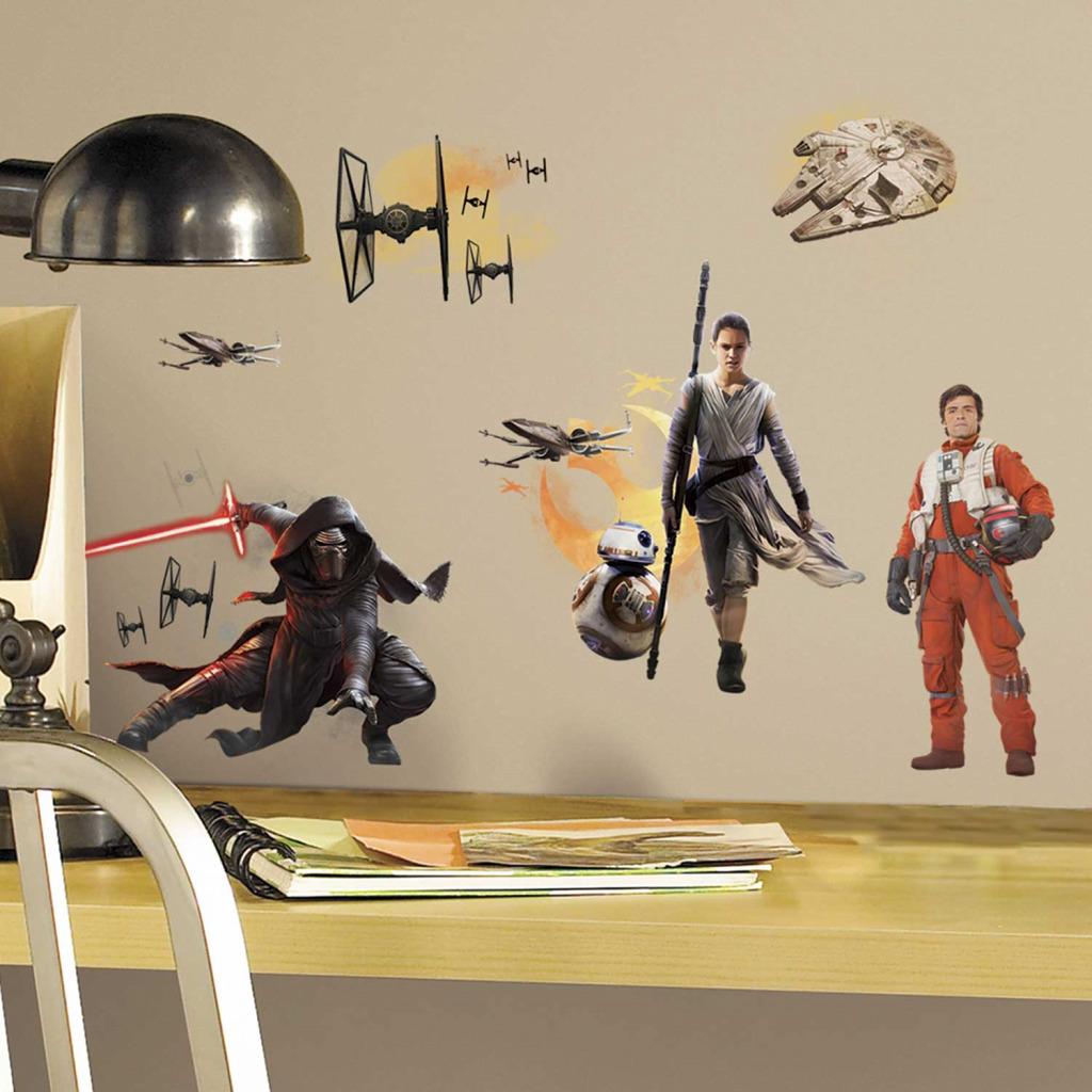 wandsticker star wars erwachen der macht wandtattoo awakens kylo ren chewbacca. Black Bedroom Furniture Sets. Home Design Ideas