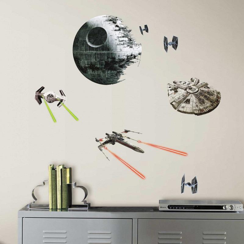 Wandsticker Star Wars Kampfschiffe RoomMates