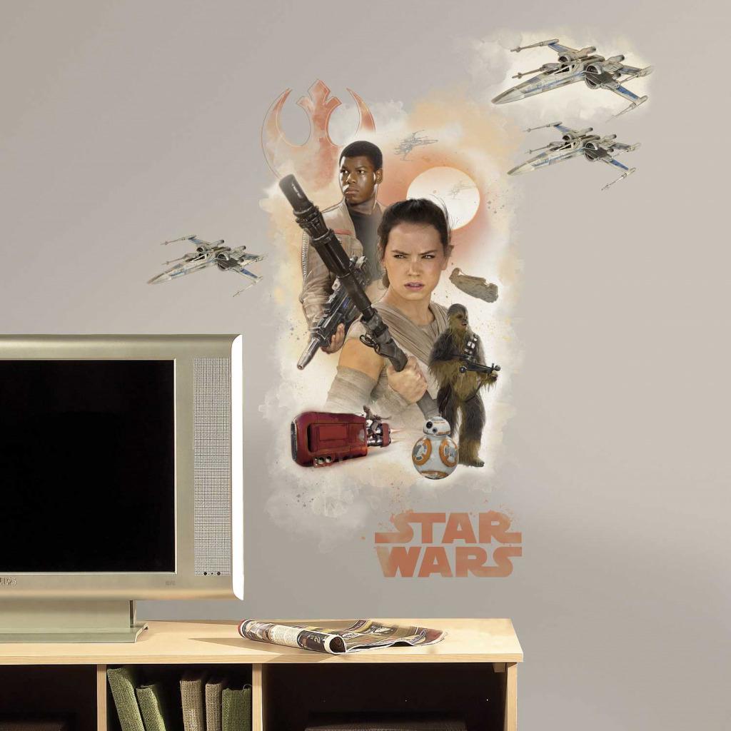 RoomMates Wandsticker Star Wars Das Erwachen der Macht Helden
