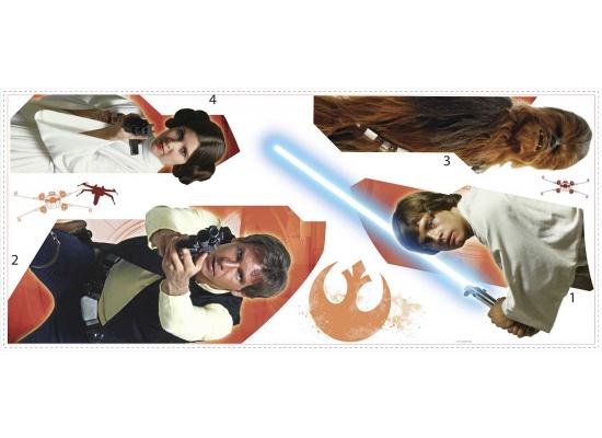 RoomMates Wandsticker Star Wars Eine neue Hoffnung Helden